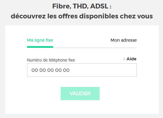 Test d'éligibilité internet SFR Red fibre ou adsl